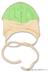 Zimní čepička LUNA zelená vel. 68