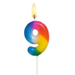 Narozeninová svíčka ČÍSLO 9