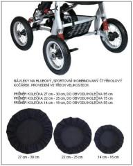 Návleky na kola - čtyřkolový kočárek 4 ks