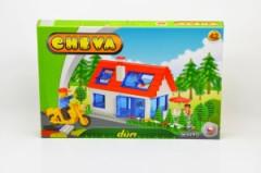 Stavebnice Cheva 42 Dům plast 244ks v krabici