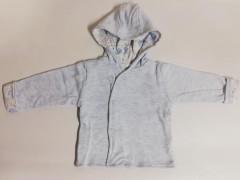 Bavlněný dvouvrstvý kabátek s kapucí Melírek Modrá Baby Service
