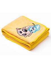 Dětská deka Sensillo Pejsek a Kočička 75x100 cm yellow
