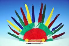 Indiánská čelenka 60x35cm BAREVNÁ
