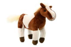 Plyšový hnědobílý kůň