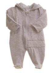 Dětský teplákový overal/kombinéza šedý melír MKcool