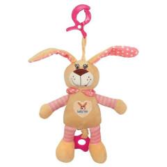Dětská hračka s vibrací Baby Mix králík růžový