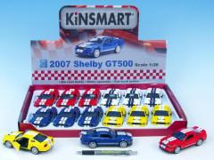Auto Kinsmart Shelby Mustang GT500  kov 12cm na zpětné natažení