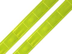 Reflexní páska na přilepení 1m žlutá