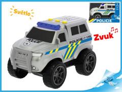 Auto policie 18cm na setrvačník na baterie se světlem a zvukem