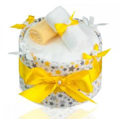 Plenkový dort velký T-tomi, žluté hvězdičky