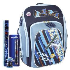 Školní batoh Cool Cherry Gravity Zone set - 4dílná sada - školní pomůcky