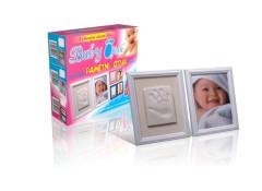 Baby Otisk Dvojrámeček - Pamětní otisk bílý rámeček