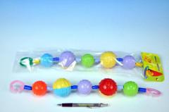 Řetěz/zábrana barevné koule plast 40cm