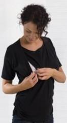 Triko pro kojení krátký rukáv KAJ - ČERNÉ