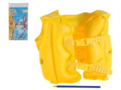 Vesta nafukovací žlutá 51x41cm 3-6 let