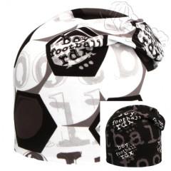 Oboustranná čepice fotbalový míč bílá RDX