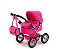 Kočárek pro panenky Trendy růžový