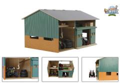 Dřevěná stodola s dílnou 1:32