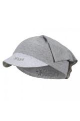 Šátek tenký kšilt Outlast® - šedý melír/pruh bílošedý