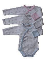 Bavlněné body dlouhý rukáv s rukavičkami Medvídci Baby Service