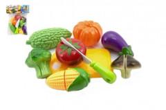 Krájecí ovoce a zelenina s nádobím plast 9ks v sáčku