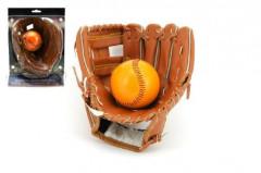 """Baseballová rukavice + míček kožená vel. 8,5"""""""