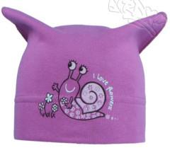 Dívčí šátek s obrázkem šneka vel. 3 (46-48cm) - FIALOVÝ