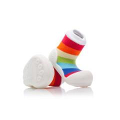 Botičky Attipas Ballet Rainbow White