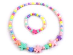 Dětská sada náhrdelník a náramek s hvězdami