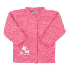 Kabátek fleece se stojáčkem Koloušek Baby Service Růžová
