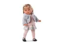 Panenka Llorens - Laura s šedým kožíškem