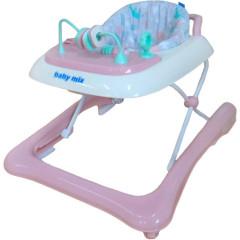Dětské chodítko Baby Mix 2v1 růžové