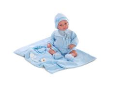 Panenka -  New born Llorens 36 cm chlapeček látkové tělo