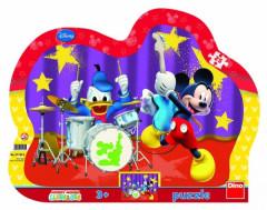 Puzzle deskové Mickeyho klubík 35x28cm 25 dílků
