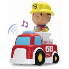 Auto hasiči 17 cm s hasičem 12,5 cm volný chod se světlem a zvukem