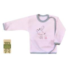 Kojenecká košilka bambusová Koala Mouse and Snail růžová