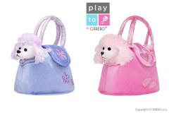 Dětská plyšová hračka PlayTo Pejsek v kabelce