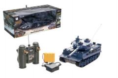 Tank RC plast 33cm TIGER I 27MHz na baterie+dobíjecí pack se zvukem a světlem