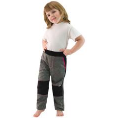 Dětské softshellové kalhoty Šedá/růžová