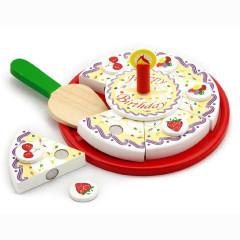 Dřevěné krájení - narozeninový dort Viga