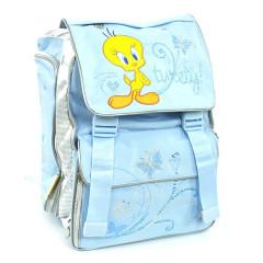 Školní batoh Tweety - ptáček a motýlci - světle modrý