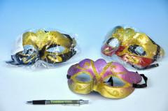 Maska škraboška plast 17cm