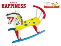 Koník houpací dřevěný 60x50x29cm Baby´s Happiness nezobra