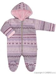 Zimní kojenecká kombinéza Baby Service Etnik zima růžová