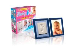 Baby Otisk Dvojrámeček - Pamětní otisk modrý rámeček