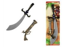 Meč pirát + kolt klapací plast 58cm