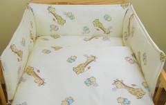 Ochranný límec mantinel Žirafa žlutá (100% bavlna + molitan)