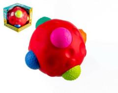 Vkládačka míč s texturami gumový 17cm