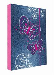 Desky na sešity Heftbox A4 Motýlci Butterfly
