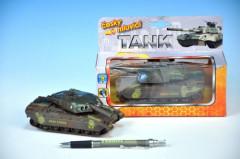 Tank kov 14cm česky mluvící na zpětné natažení